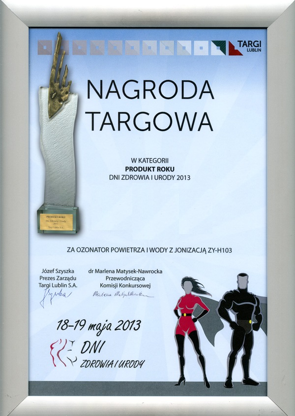 Ozonator ZY-H 103 Nagroda Targowa